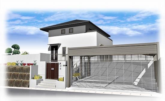 生駒市真弓にて外構工事を行っています。