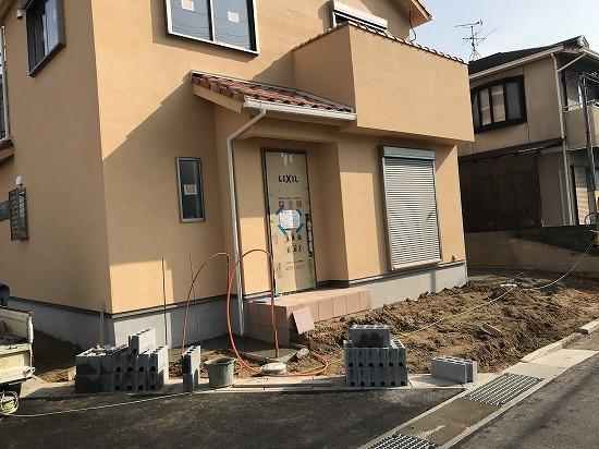 奈良県北葛城郡の新築外構工事です。