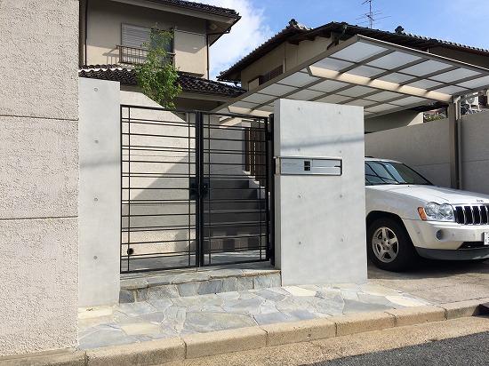 奈良市外構リフォーム3 RC風塗装