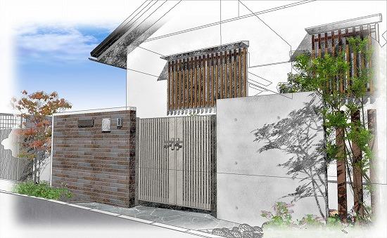 ガーデンプロ関西でのお打ち合わせはイメージパースを使用します。