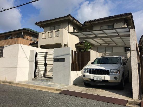 奈良市外構リフォーム4 ガレージ