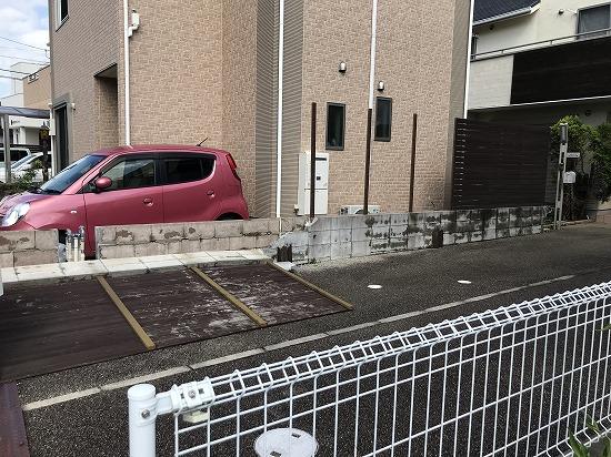 精華町にてブロック撤去工事