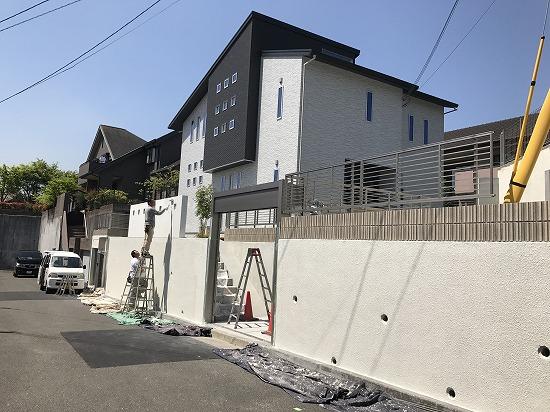 京田辺市塗装工事中です。