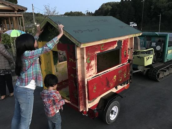 奈良市で小屋づくりを子供達と楽しみました。