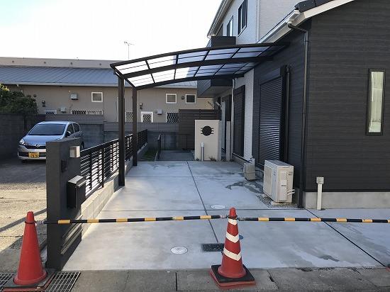 桜井市にて和モダン外構工事をさせて頂きました。