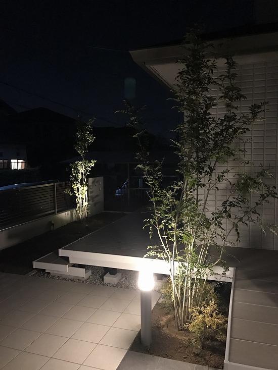 お庭ライトアップ