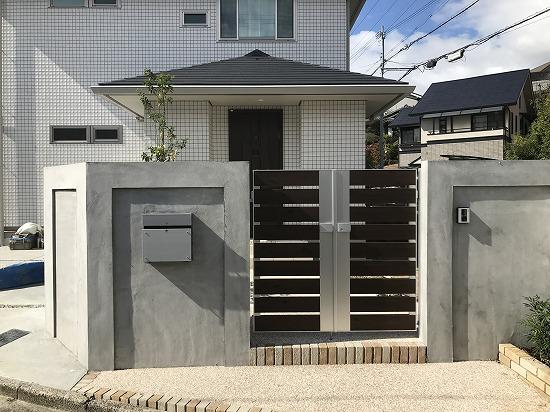 生駒市にて外構工事をさせて頂いています。
