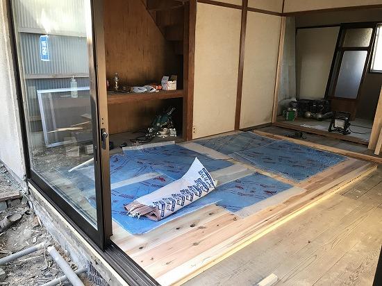 奈良市内古民家改装工事中