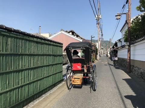 人力車で奈良を散策