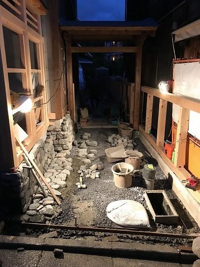 京庭ホテル工事中ガーデンプロ関西