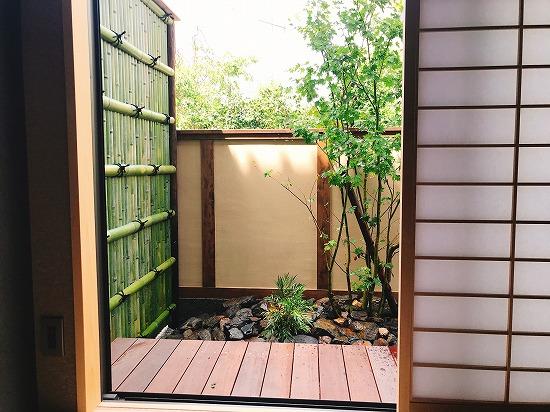 京都ホテル坪庭施工画像