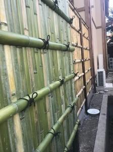 天然竹垣ビフォーアフター