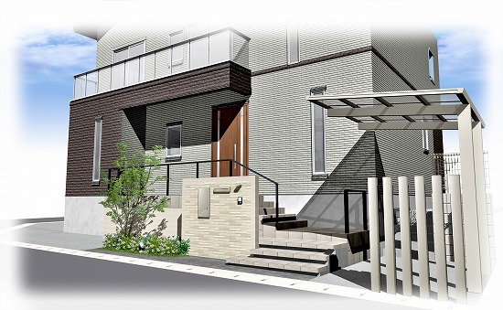 京田辺の新築外構工事
