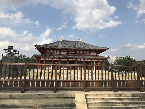 ならまちガーデンの近くにある興福寺中金堂の写真