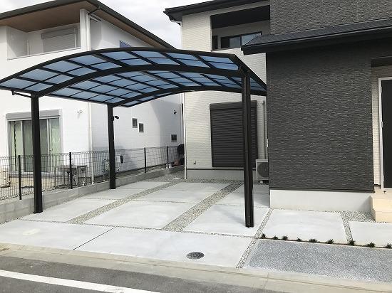 木津川市城山台にてカーポート工事